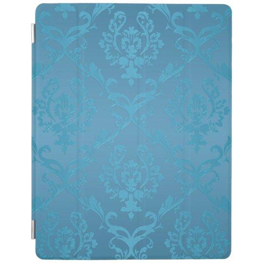 Vintage Modern Glam Turquoise Damask iPad Cover