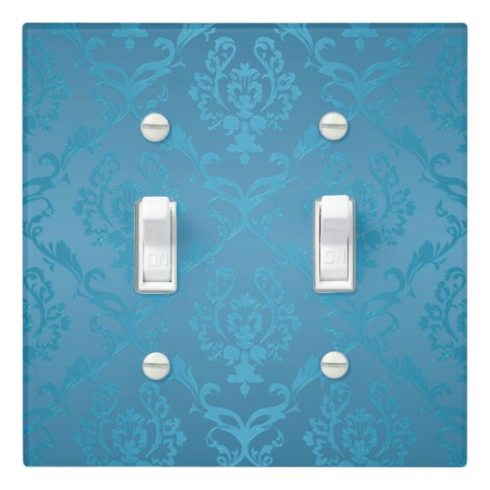 Vintage Modern Glam Turquoise Damask Light Switch Cover