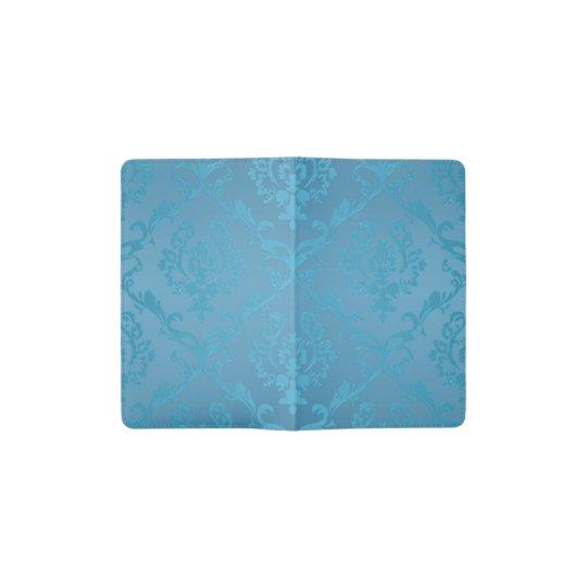 Vintage Modern Glam Turquoise Damask Pocket Moleskine Notebook
