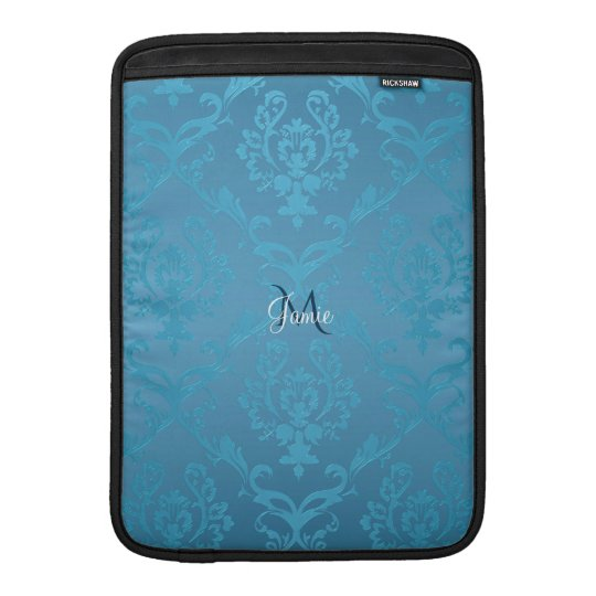 Vintage Modern Glam Turquoise Damask Sleeve For MacBook Air