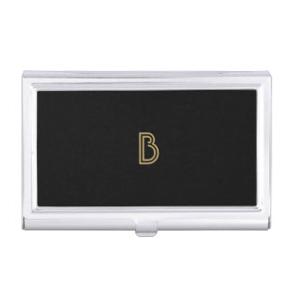 VINTAGE MODERN GOLD and BLACK MONOGRAM Card Case
