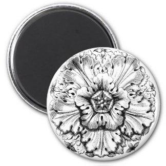 Vintage Modern Leafy Flower Magnet