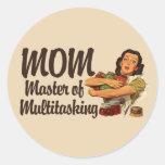 Vintage Mom Round Stickers