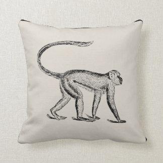 Vintage Monkey Artisan Pillow - Pick Your Color