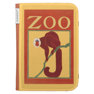 Vintage Monkey Zoo Animal Primate Gregory Brown Cases For Kindle