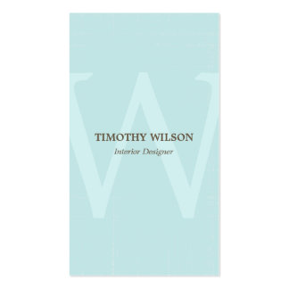 Vintage Monogram Business Cards - Light Blue
