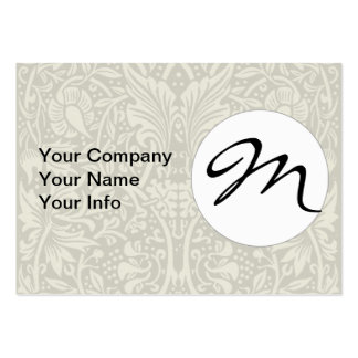 Vintage monogram daffodil art nouveau pattern pack of chubby business cards