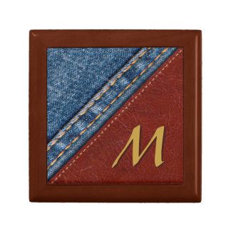Vintage Monogram Denim and Leather Gift Box