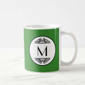 Vintage Monogram Green - Mug