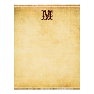 Vintage Monogram Parchment Paper