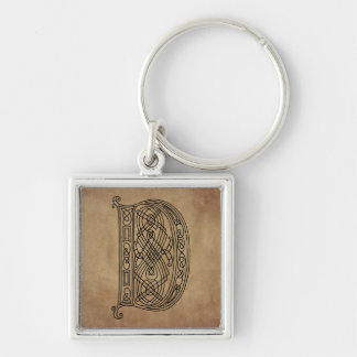 Vintage Monogram The Letter D Keychain