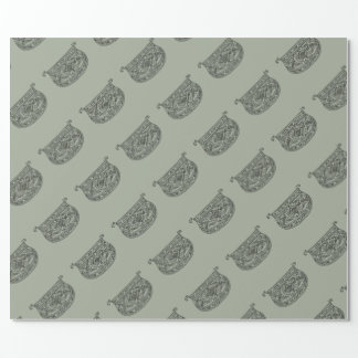 Vintage Monogram The Letter D Wrapping Paper