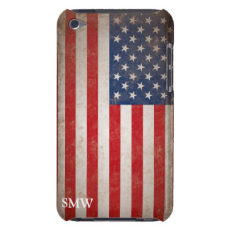 Vintage Monogram USA Flag iPod Touch Case