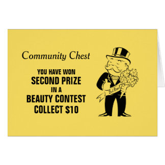 Vintage Monopoly Beauty Contest Card