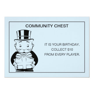 Vintage Monopoly Birthday Card