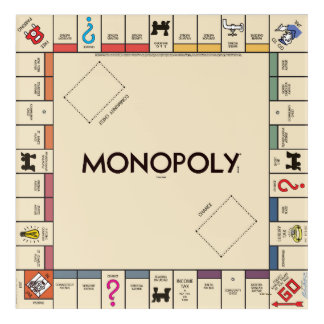 Vintage Monopoly Game Board Acrylic Print