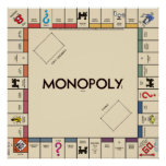 Vintage Monopoly Game Board Poster