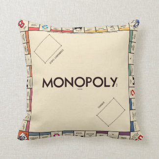 Vintage Monopoly Game Board Throw Pillow