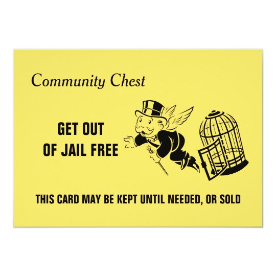 Vintage monopoly get out of jail card zazzle vintage monopoly get out of jail card reheart Images