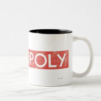 Vintage Monopoly Logo Two-Tone Coffee Mug