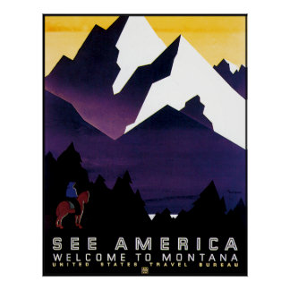 Vintage Montana Poster Reproduction