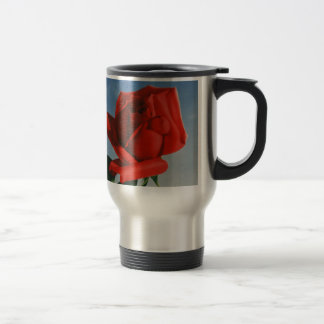 Vintage Montreux Red Rose Switzerland Geneva Lake Travel Mug