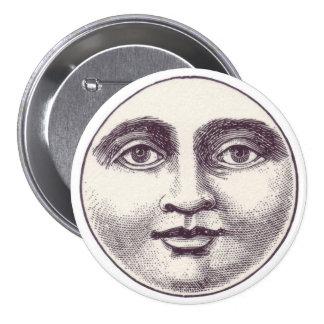 Vintage Moon Face Button