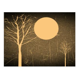 Vintage Moon night postcards