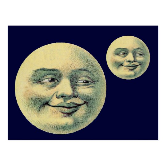 Vintage Moon Postcard