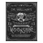Vintage Moonshine Hillbilly Medicine Custom Grey Poster