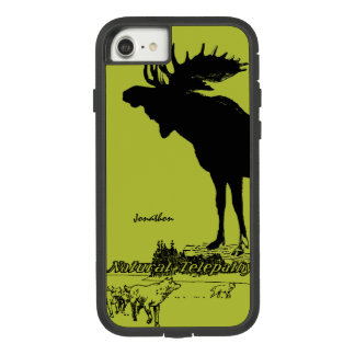 Vintage Moose and Wolf Wildlife -Choose Case Color