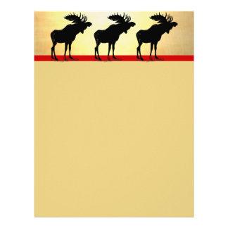 Vintage Moose Christmas Letterhead