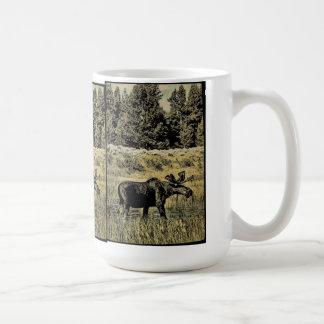 Vintage Moose Coffee Mug