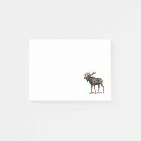 Vintage Moose Illustration Post-it Notes