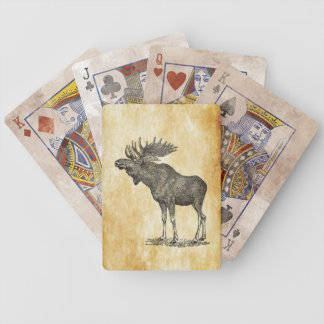 Vintage Moose Playing Cards