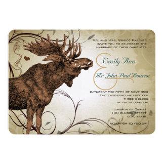 Vintage Moose Wedding Invitations