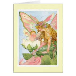 Vintage Morning Baby Fairy Card