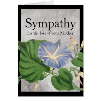 Vintage Morning Glory Botanical Sympathy Card