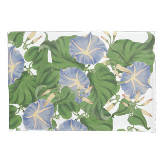 Vintage Morning Glory Flowers Floral Pillowcase