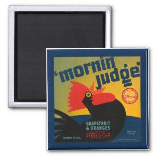 Vintage Morning Judge Grapefruit & Orange Magnetic Magnet