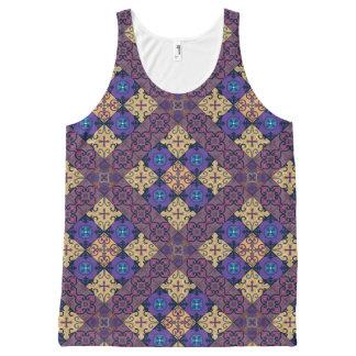 Vintage mosaic talavera ornament All-Over-Print tank top