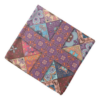 Vintage mosaic talavera ornament bandana