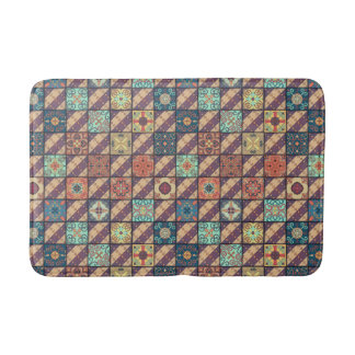 Vintage mosaic talavera ornament bath mat
