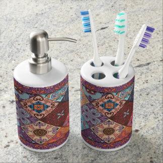 Vintage mosaic talavera ornament bathroom set