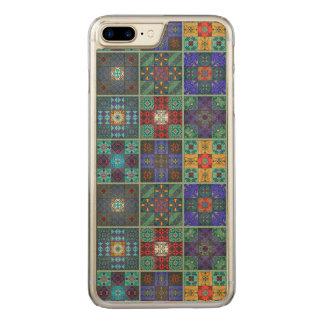 Vintage mosaic talavera ornament carved iPhone 8 plus/7 plus case