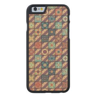 Vintage mosaic talavera ornament carved maple iPhone 6 case