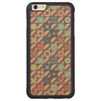 Vintage mosaic talavera ornament carved maple iPhone 6 plus bumper case