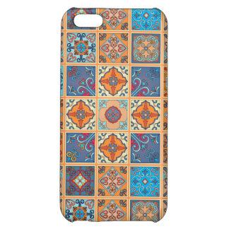 Vintage mosaic talavera ornament case for iPhone 5C
