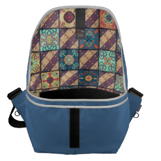 Vintage mosaic talavera ornament courier bags