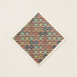 Vintage mosaic talavera ornament disposable napkin